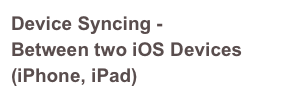 Device Syncing -